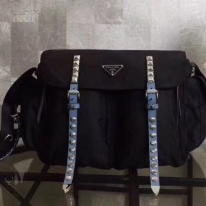 Replica Prada 1BD119 Black Nylon shoulder bag Nylon and calf leather