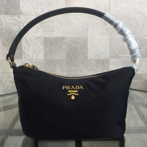 Replica Prada 1N1413 Black Tessuto Evening Bag Black Nylon