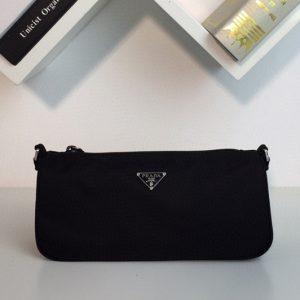 Replica Prada 1N1419 Black nylon hobo bag in Black Nylon