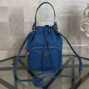 Replica Prada 1N1864 Tessuto Nylon Sling Bag in Blue Nylon