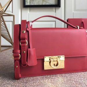 Replica Ferragamo 21E099 Aileen Bags in Red calfskin leather
