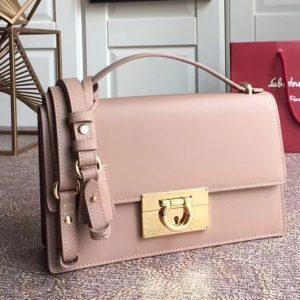 Replica Ferragamo 21E099 Aileen Bags in Pink calfskin leather