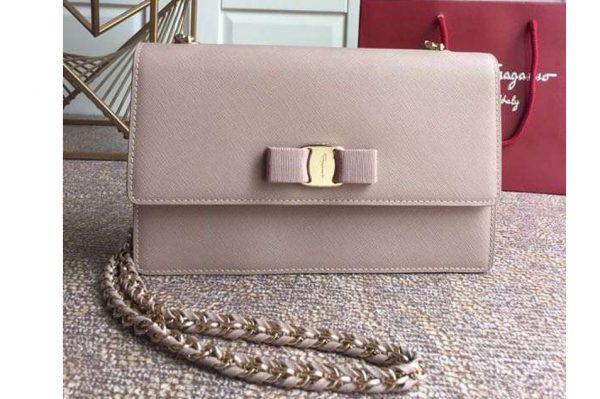 Replica Ferragamo 21E480 Ginny Bags in Pink calfskin leather