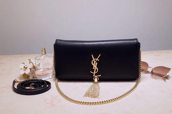 Replica Saint Laurent 6042761 YSL Kate 99 In Black Lambskin Leather