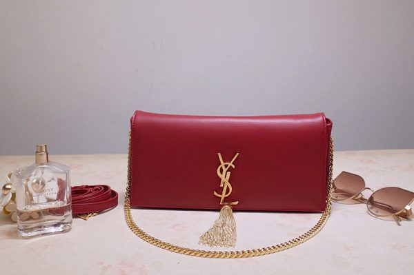 Replica Saint Laurent 6042761 YSL Kate 99 In Red Lambskin Leather