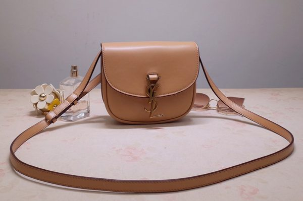 Replica Saint Laurent 619740 YSL Kaia Small Satchel Bag in Brown Smooth Vintage Leather
