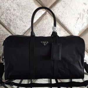 Replica Prada V19S Boston Nylon bag Black Nylon
