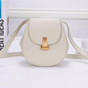 Replica Bottega Veneta 576271 Angle Belt Bags White Calf Leather