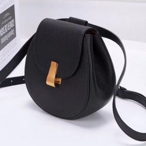 Replica Bottega Veneta 576271 Angle Belt Bags Black Calf Leather