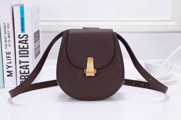 Replica Bottega Veneta 576271 Angle Belt Bags Coffee Calf Leather