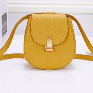 Replica Bottega Veneta 576271 Angle Belt Bags Yellow Calf Leather