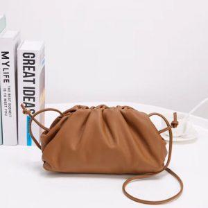 Replica Bottega Veneta The Pouch 20 Bags Brown Butter Calf Leather