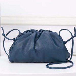 Replica Bottega Veneta The Pouch 20 Bags Blue Butter Calf Leather
