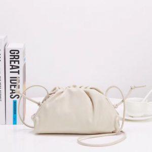 Replica Bottega Veneta The Pouch 20 Bags White Butter Calf Leather