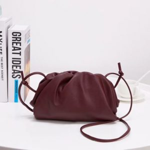 Replica Bottega Veneta The Pouch 20 Bags Bordeaux Butter Calf Leather