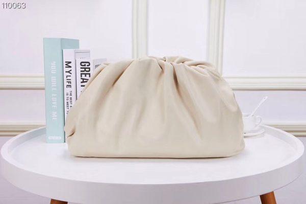 Replica Bottega Veneta 567560 The Pouch Bags White Butter Calf Leather