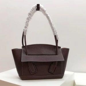 Replica Bottega Veneta 580725 Arco 33 Bags Dark Coffee Palmellato Leather