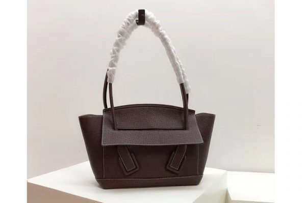 Replica Bottega Veneta 580725 Arco 33 Bags Dark Coffee Palmellato Leather