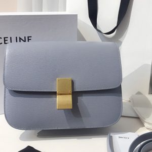 Replica Celine 189173 Medium Classic Bag in Blue Calfskin