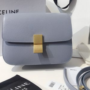 Replica Celine 192523 Teen Classic Bag in Blue Calfskin