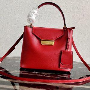 Replica Prada 1BN012 Tote Saffiano Leather Bags in Red Saffiano Leather