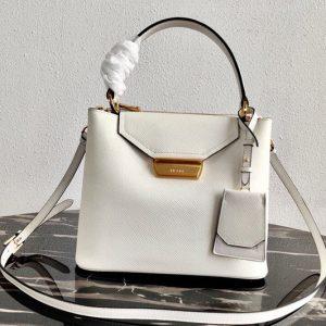 Replica Prada 1BN012 Tote Saffiano Leather Bags in White Saffiano Leather