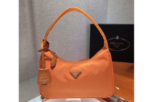 Replica Prada 1NE515 Re-Edition 2000 nylon mini-bag in Orange Nylon