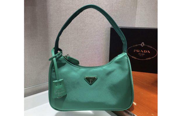 Replica Prada 1NE515 Re-Edition 2000 nylon mini-bag in Green Nylon