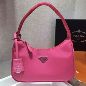 Replica Prada 1NE515 Re-Edition 2000 nylon mini-bag in Rosy Nylon