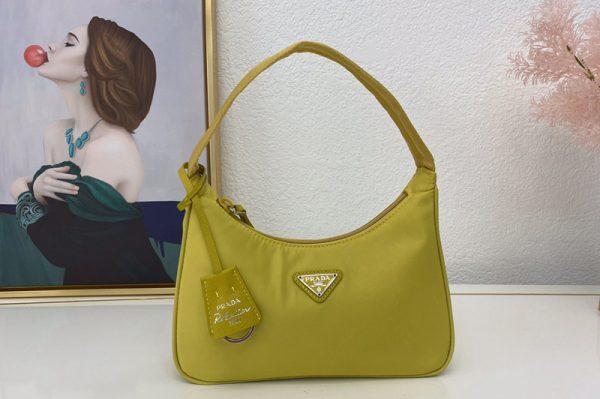 Replica Prada 1NE515 Re-Edition 2000 nylon mini-bag in Lemon Nylon