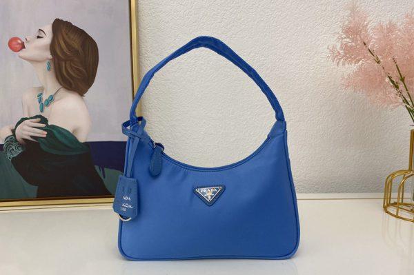 Replica Prada 1NE515 Re-Edition 2000 nylon mini-bag in Blue Nylon