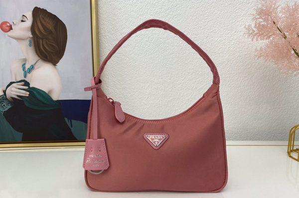 Replica Prada 1NE515 Re-Edition 2000 nylon mini-bag in Pink Nylon