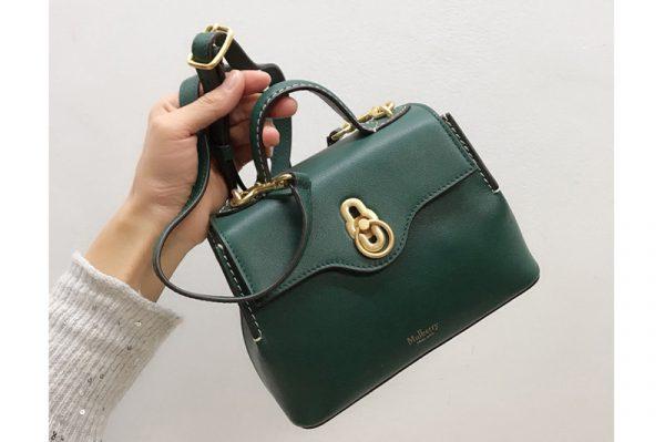 Replica Mulberry HH5059 Mini Seaton Bag in Green Small Classic Grain