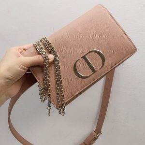 Replica Christian Dior 30 Montaigne 2-in-1 pouch S2086 in Pink Calfskin