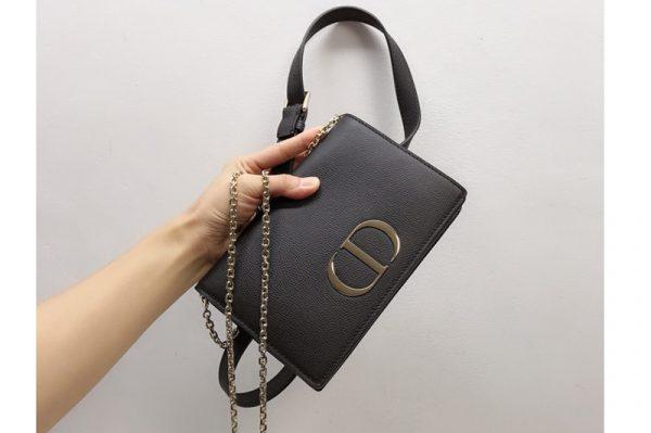 Replica Christian Dior 30 Montaigne 2-in-1 pouch S2086 in Black Calfskin