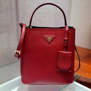 Replica Prada 1BA212 Panier Medium bag Red Saffiano leather