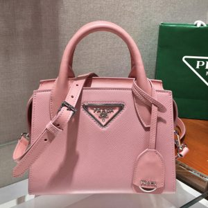 Replica Prada 1BA269 Saffiano leather handbag in Pink Saffiano leather