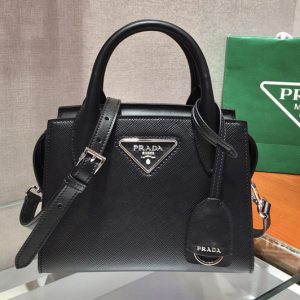Replica Prada 1BA269 Saffiano leather handbag in Black Saffiano leather