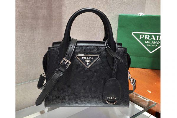 Replica Prada 1BA269 Saffiano leather handbag in Black Saffiano leather