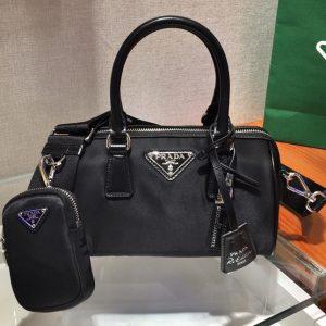 Replica Prada 1BA846 Boston bag in Black Nylon