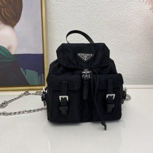 Replica Prada 1BH029 Nylon mini backpack Black Nylon