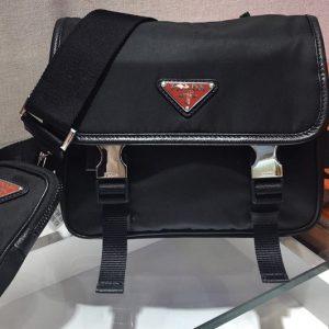 Replica Prada 2VD034 Nylon Cross-Body Bag in Black Nylon With Logo