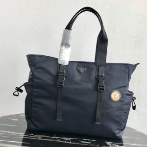 Replica Prada 2VG042 Nylon Tote Bag Blue Nylon