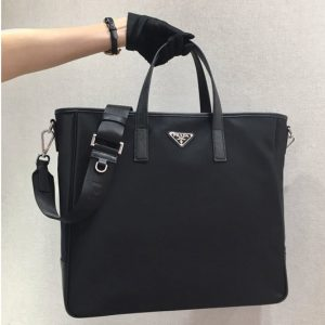 Replica Prada 2VG064 Nylon Tote Bag Black Nylon