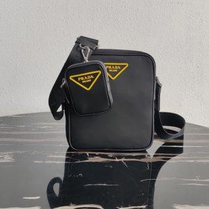 Replica Prada 2VH112 Nylon Cross-Body Bag in Black Nylon