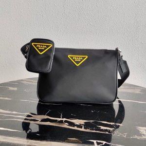 Replica Prada 2VH113 Nylon Cross-Body Bag in Black Nylon