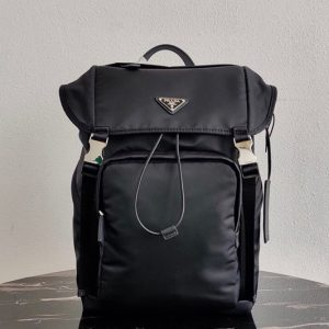 Replica Prada 2VZ135 Nylon Backpack in Black Nylon
