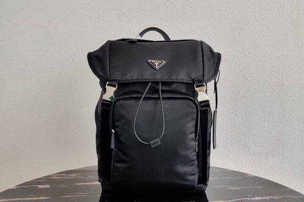 Replica Prada 2VZ135 Nylon Backpack in Black Nylon