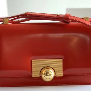 Replica Bottega Veneta 578009 BV classic Shoulder bag in Red Calf Leather