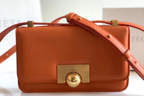 Replica Bottega Veneta 578009 BV classic Shoulder bag in Orange Calf Leather